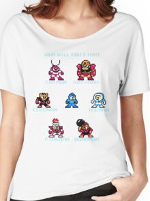 Megaman Who will you fight Women's Relaxed Fit T-Shirt