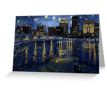 Future Starry Night on the Rhone  Greeting Card