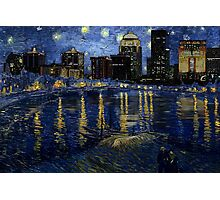 Future Starry Night on the Rhone  Photographic Print