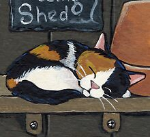 Calico in the Potting Shed by Lisa Marie Robinson