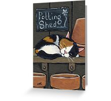 Calico in the Potting Shed Greeting Card