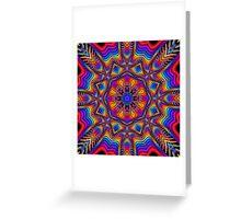 Fantasy Floral Kaleidoscope fractal artwork Greeting Card