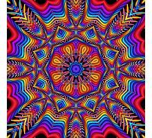 Fantasy Floral Kaleidoscope fractal artwork Photographic Print