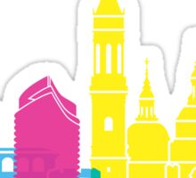 Zaragoza skyline pop Sticker