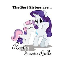 Best Sisters Rarity and Sweetie Belle iPad by Steven Hoag