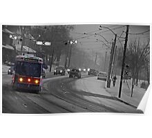Streetcar in the Snowstorm Poster