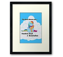 Best Sisters Rainbow and Scootaloo poster Framed Print