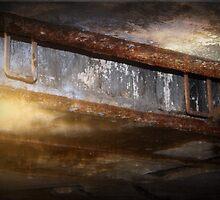 Battery Mishler ceiling, upward opening by Dawna Morton