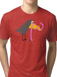 Bird and Worm - Duel Tri-blend T-Shirt