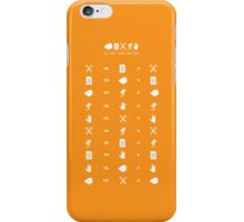 Rock Paper Scissors Lizard Spock Rules iPhone Case/Skin