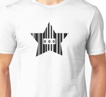 Star Shaped Barcode Unisex T-Shirt