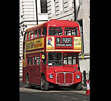 Vintage Red London Bus by Tom Conway