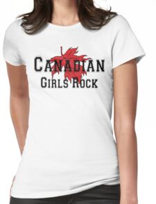 Canadian Girls Rock Womens Fitted T-Shirt