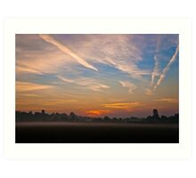 Sunrise over Bartonsham Art Print