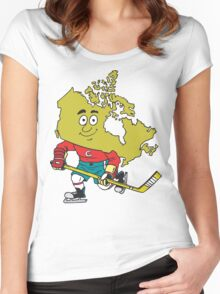 Canadian Hockey Women's Fitted Scoop T-Shirt