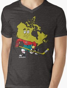 Canadian Hockey Mens V-Neck T-Shirt