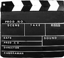 clapper board by Tom Conway