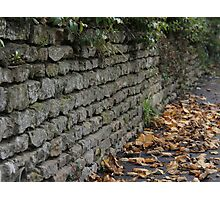 Dry Stone Wall  Photographic Print