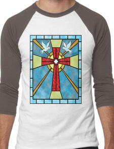 Stained Glass Window Men's Baseball ¾ T-Shirt