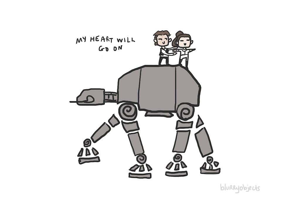 Han & Leia - My Heart Will Go On by blurryobjects