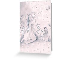 Cecily Catches the Moon Greeting Card