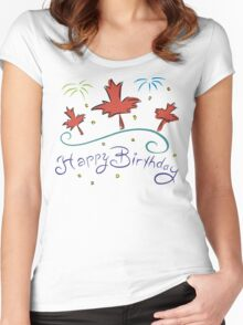 Happy Birthday Canada Women's Fitted Scoop T-Shirt