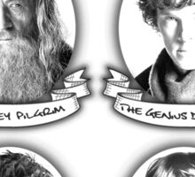 Gandalf, Sherlock, The Doctor and Harry Sticker