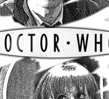 The Doctor and Donna Noble (with DW Logo) Sticker