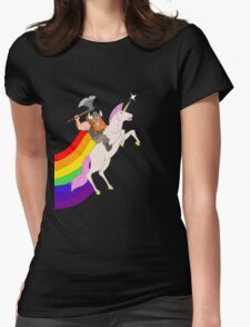 Hairy and Sparkles Womens Fitted T-Shirt