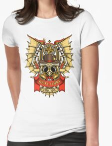 OWL STEAMPUNK Womens Fitted T-Shirt
