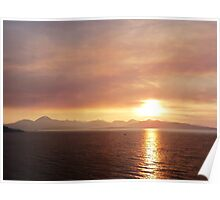 Smokey Sunset o'er The Cuillins Poster
