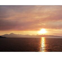 Smokey Sunset o'er The Cuillins Photographic Print