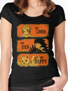 The Good, the Bad and the Happy Women's Fitted Scoop T-Shirt