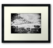 New Zealand - The Man by the Rocks Framed Print