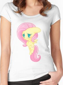 Chibi Fluttershy Women's Fitted Scoop T-Shirt