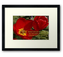 tulip shout! Framed Print