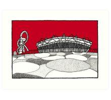 The Olympic Stadium Art Print