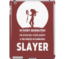 She Is The Slayer iPad Case/Skin
