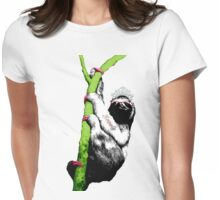 Slothful Sloth Beauty Queen Womens Fitted T-Shirt