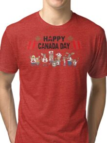 Happy Canada Day Tri-blend T-Shirt