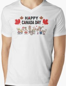 Happy Canada Day Mens V-Neck T-Shirt