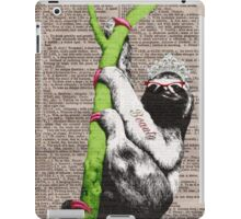 Slothful Sloth Beauty Queen iPad Case/Skin