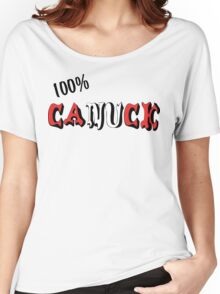 Canadian 100% Canuck Women's Relaxed Fit T-Shirt