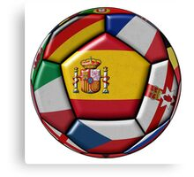 Soccer ball with flag of Spain in the center Canvas Print