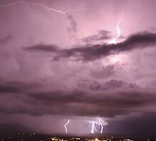 Lightning Storm Boonah Qld by Louiedownunder  ©