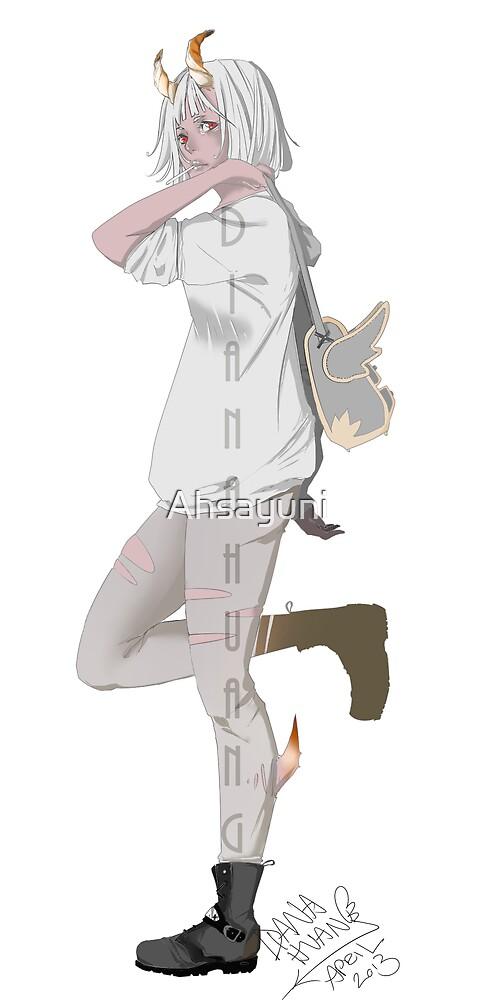 Horned School Girl by Ahsayuni