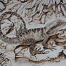 Pyrography: Water Dragon by aussiebushstick
