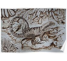 Pyrography: Water Dragon Poster