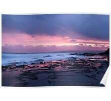 Snapper Rock Sunset Poster