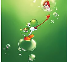 Yoshi and Baby Mario by MeepAndMushrat